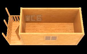 Бытовка дачная деревянная «В-10»
