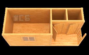 Бытовка дачная деревянная «В-11»