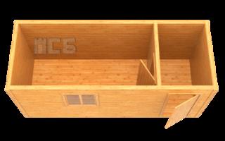Бытовка деревянная «В-2»