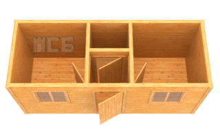 Бытовка деревянная «В-6»