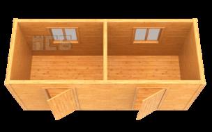 Бытовка дачная деревянная «В-8»