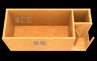 Бытовка деревянная «В-9»