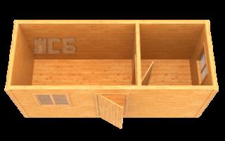 Бытовка деревянная «В-12»