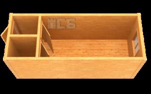 Бытовка дачная деревянная «В-16»