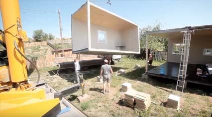 Деревянный модульный дом