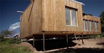 Свайный фундамент модульного дома