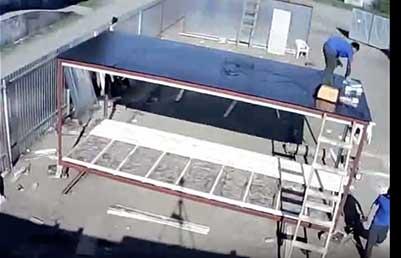 Сборка каркаса блок контейнера