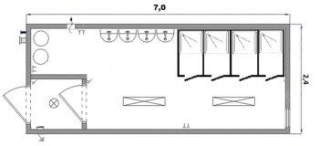 Сантехнический блок-контейнер «СБ-2»