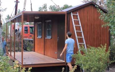 модульный дом с верандой
