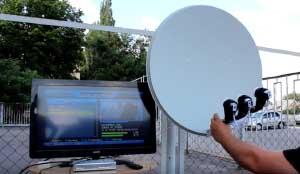 спутниковое оборудование для временного жилья