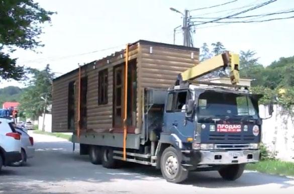 Перевозка модульного здания со склада
