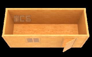 Бытовка дачная деревянная «В-1»