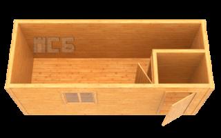 Бытовка дачная деревянная «В-3»
