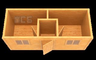 Бытовка дачная деревянная «В-5»