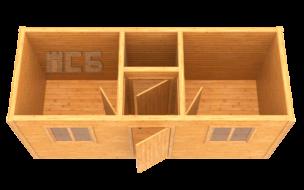 Бытовка дачная деревянная «В-6»
