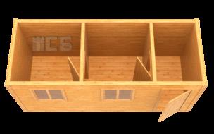 Бытовка дачная деревянная «В-7»