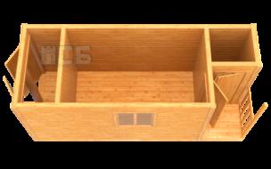 Бытовка дачная деревянная «В-14»