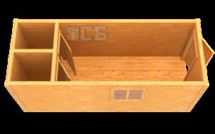 Бытовка дачная деревянная «В-15»