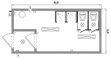 Сантехнический блок-контейнер «СБ-1»