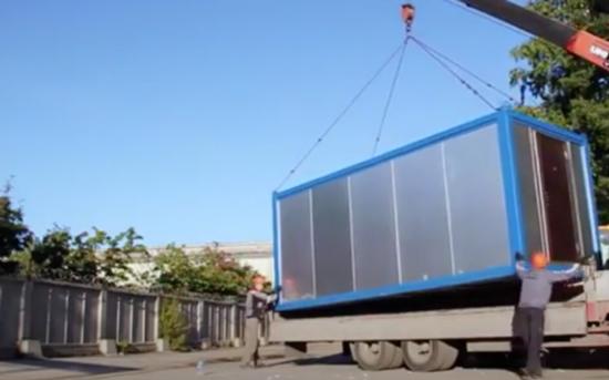 как перевозить офисные блок контейнеры